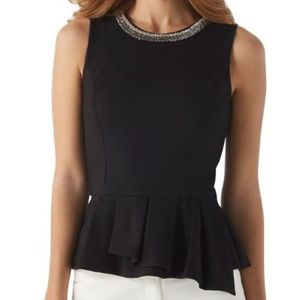 White House Black Market Peplum Top